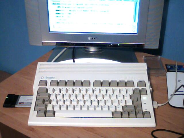 Amiga A600HD with PCMCIA Wireless Adaptor