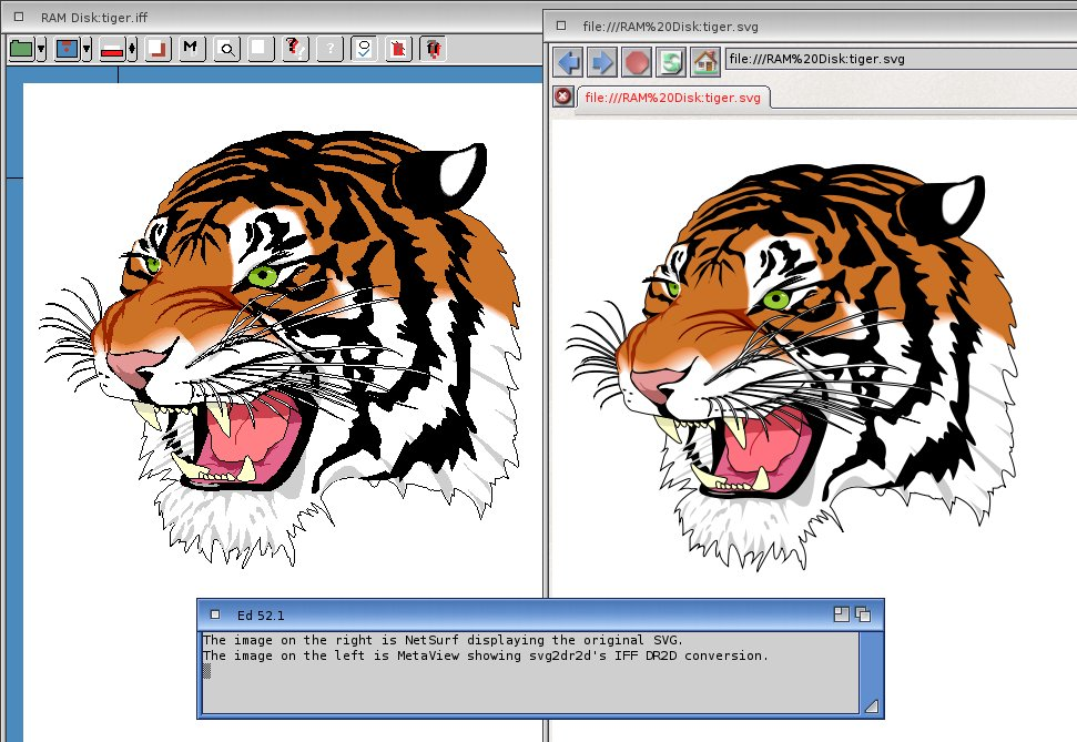 SVG and DR2D alongside each other