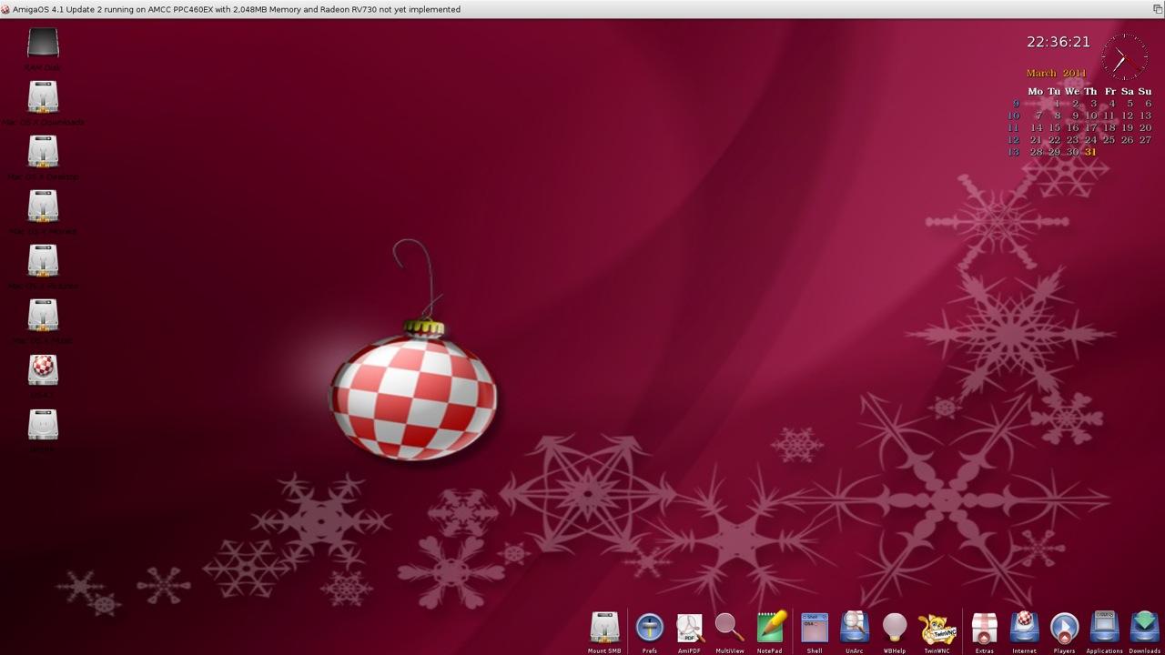 SAM 460ex AmigaOS 4.1 Workbench (6/44)