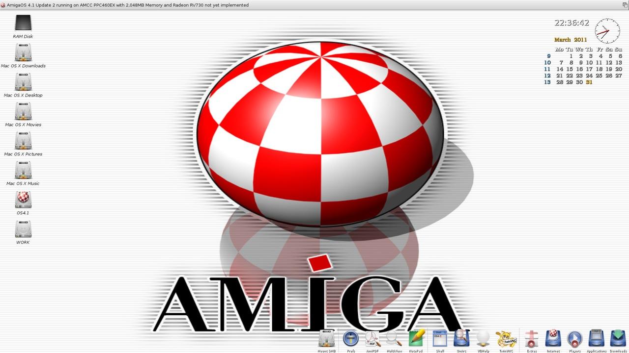 SAM 460ex AmigaOS 4.1 Workbench (7/44)