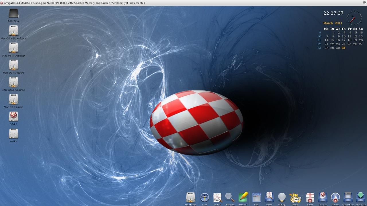 SAM 460ex AmigaOS 4.1 Workbench (9/44)