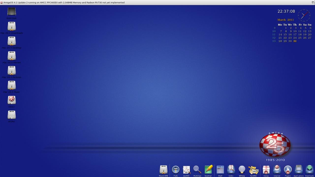 SAM 460ex AmigaOS 4.1 Workbench (8/44)