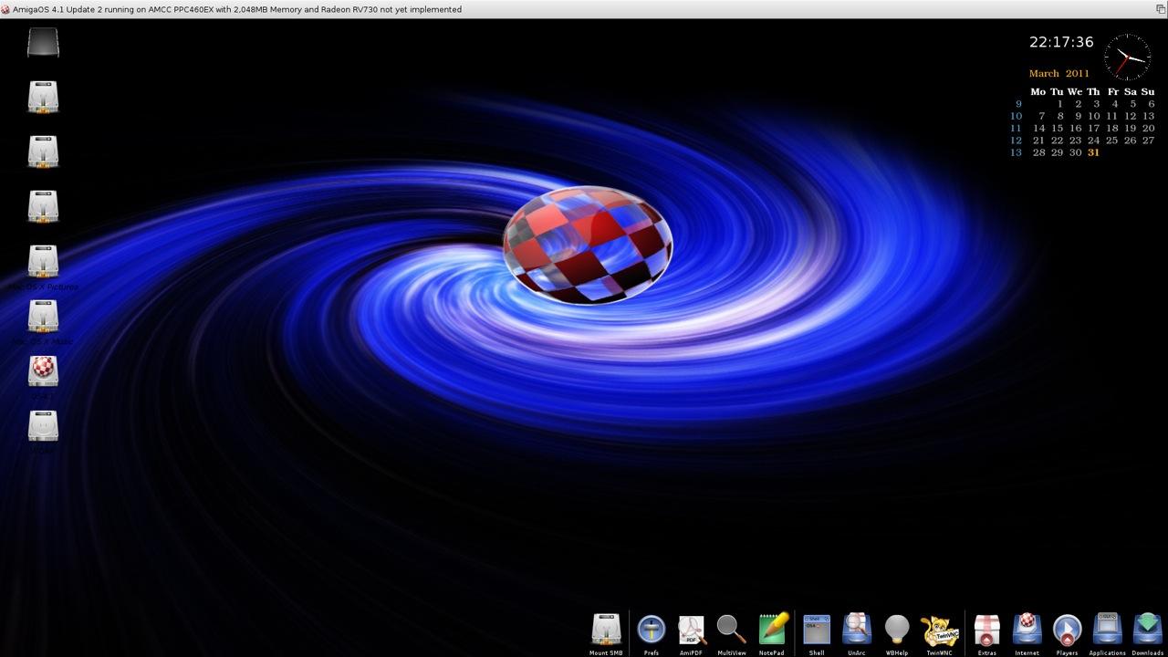 SAM 460ex AmigaOS 4.1 Workbench (12/44)